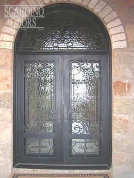 American Flat Top Iron Doors with Iron Radius Transom