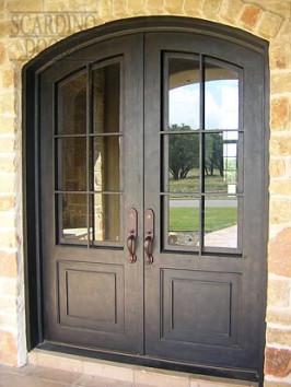 American Elliptical Top Ornamental Wrought Iron Doors