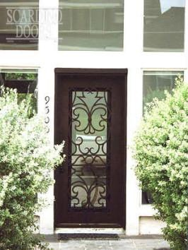 Asian Flat Top Ornamental Wrought Iron Door