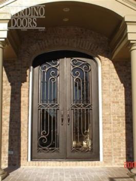 Custom Curved Top Wrought Iron English Windsor Doors