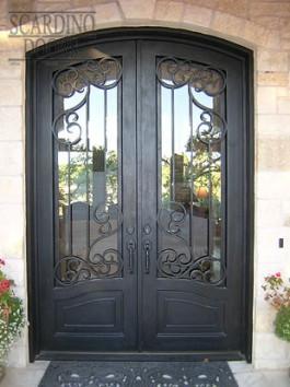 Custom Double Elliptical Top Wrought Iron French Parisian Doors