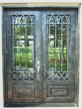 Custom Flat Top Pewter Chateau Doors