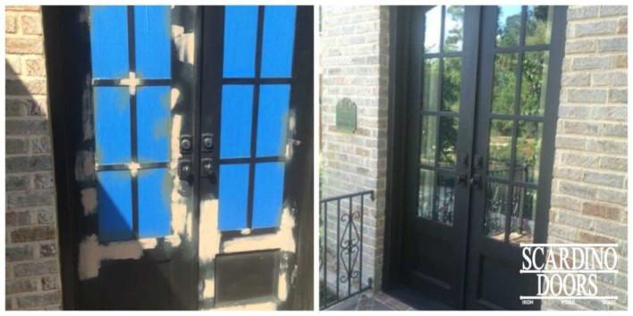 Repairing & Resurfacing Wrought Iron Double Doors: http://www.scardinodoors.com/restoration-repair/