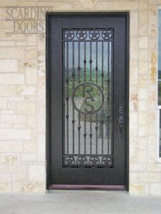 American Ornamental Wrought Iron Texas Star Door