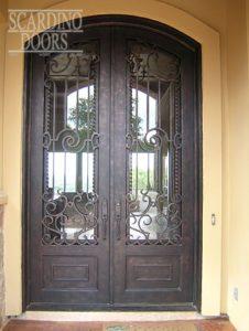 Asian Ornamental Mandarin Wrought Iron Doors