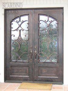 Asian Shanghai Ornamental Wrought Iron Doors