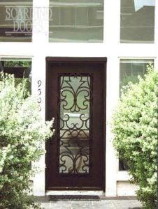 Asian Square Ornamental Wrought Iron Door