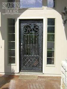 English Lodging Wrought Iron Door
