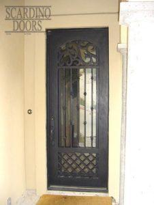 English Lodging Ornamental Wrought Iron Door