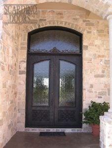 Ornamental Wrought Iron French Braid Door