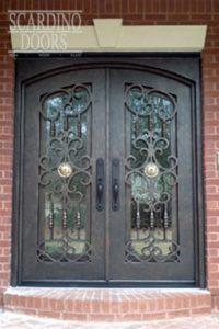 English Windsor Ornamental Wrought Iron Doors