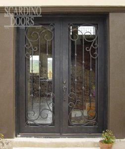 Black Edinburgh Ornamental Wrought Iron Doors