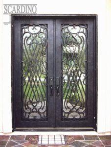 Italian Ornamental Wrought Iron Doors