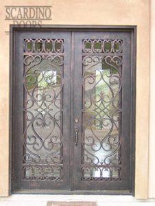 Italian Modena Ornamental Wrought Iron Doors