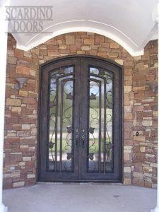 Modern Art Ornamental Jonquil Wrought Iron Doors