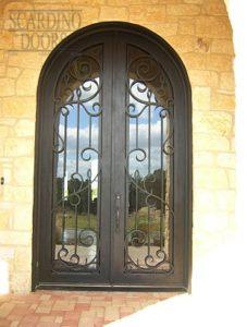 Modern Art Radius Ornamental Wrought Iron Doors