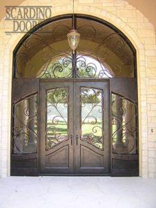 Modern Art Floral Ornamental Wrought Iron Doorway