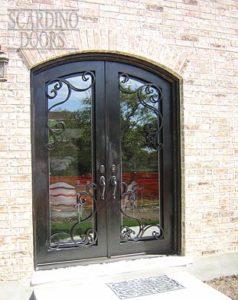 Modern Art Light & Airy Ornamental Wrought Iron Doors