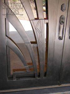 Modern Art Wrought Iron Door Sunrays Detail