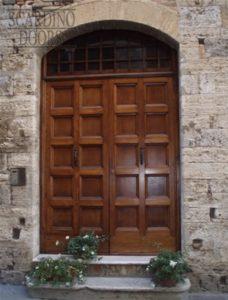 Tuscany Custom Wood Doors with Transom