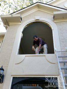 Scardino Doors installation team preparing installation sites