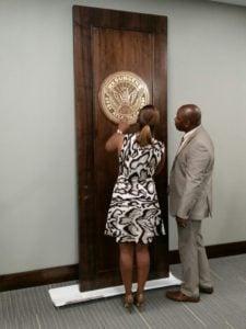 Atlanta Seal on City Hall Door