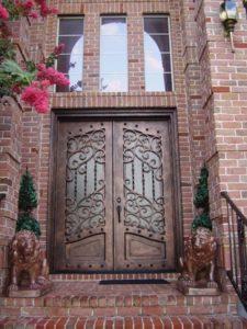 custom wrought iron door 4